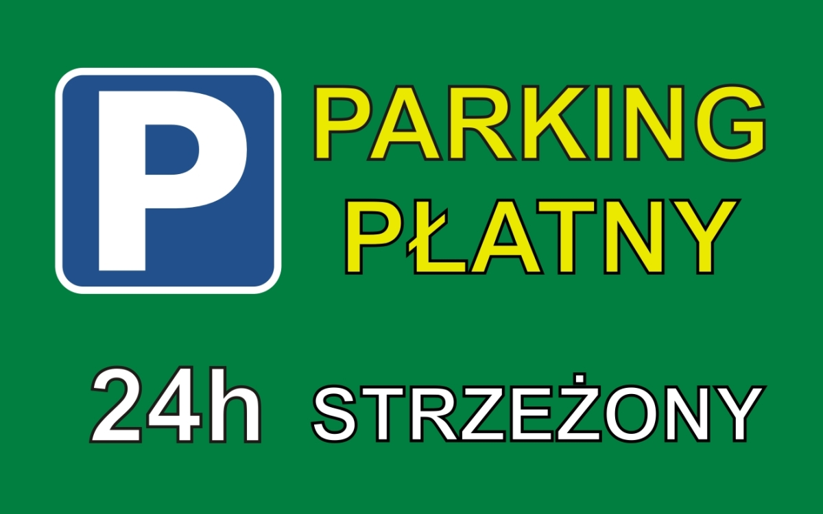 Flaga parking płatny / projekt